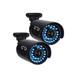 Night Owl CAM-2PK-AHD7 Wired Night Vision Indoor/Outdoor Security Bullet Camera; Black