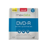 Maxell® 638014 4.7GB 16x DVD Recordable Media, 100/Pack
