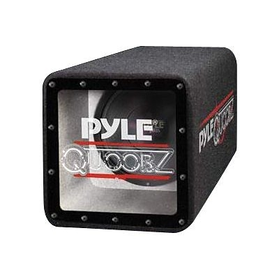 Pyle® PLQB10 500 W Bandpass Subwoofer Enclosure System; Blue/Black