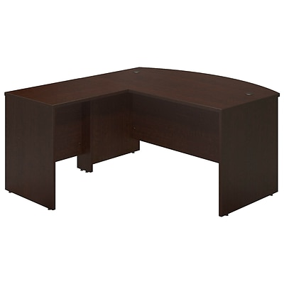 Bush Business Westfield Elite 60W x 36D Bowfront Desk Shell with 30W Return, Mocha Cherry, Installed