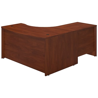 Bush Business Westfield 60Wx43D Left Bowfront Desk Shell w/30W Return, Hansen Cherry, Installed