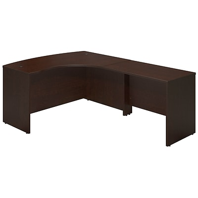 Bush Business Westfield Elite 60W x 43D Right Hand Bowfront Desk Shell with 42W Return, Mocha Cherry