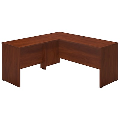 Bush Business Westfield Elite 66W x 24D Desk Shell with 42W Return, Hansen Cherry, Installed