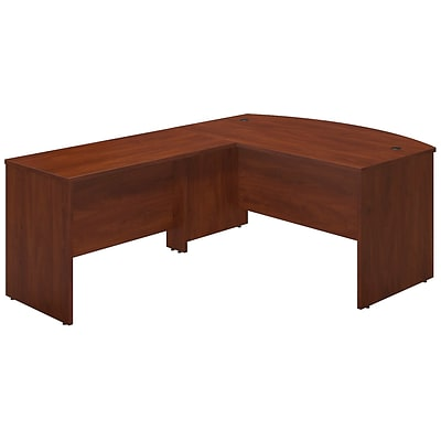 Bush Business Westfield Elite 60W x 36D Bowfront Desk Shell with 48W Return, Hansen Cherry