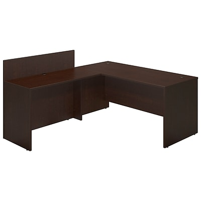 Bush Business Westfield Elite 66W x 30D Desk Shell with 48W Privacy Return, Mocha Cherry, Installed