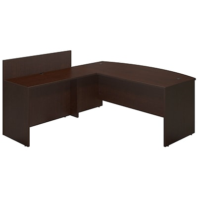 Bush Business Westfield Elite 72W x 36D Bowfront Desk Shell with 48W Privacy Return, Mocha Cherry