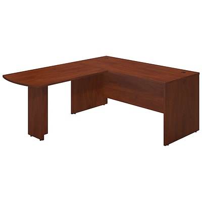 Bush Business Westfield Elite 66Wx30D Desk Shell with 48W Peninsula Return, Hansen Cherry, Installed