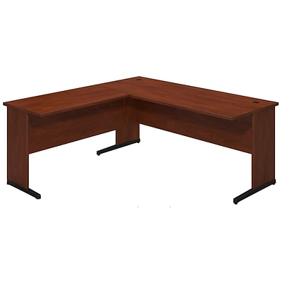 Bush Business Westfield Elite 72W x 30D C Leg Desk with 42W Return, Hansen Cherry, Installed
