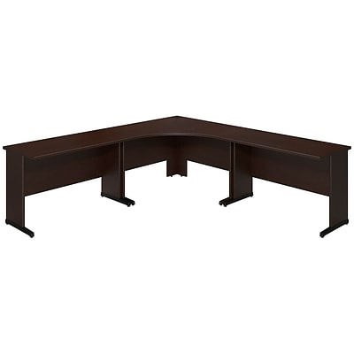 Bush Business Westfield Elite 48Wx48D C Leg Corner Desk w/(2) 48Wx24D Desks, Mocha Cherry, Installed