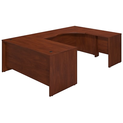 Bush Business Westfield Elite 66W x 30D Right Hand U-Station Desk Shell, Hansen Cherry, Installed