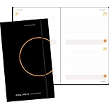 AT-A-GLANCE® Two-Days-Per-Page Planning Notebook, Black,  5-1/8 x 8-1/4 (80-6121-05)