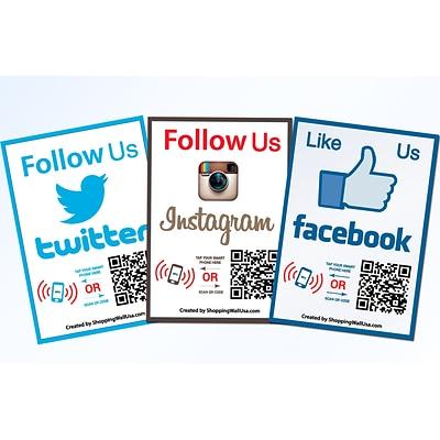 Multi QR Code Instagram Facebook Business Social Media