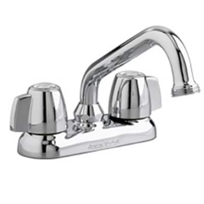 American Standard Deck Mounted Laundry Faucet w/ Aerated End Spout and Double Knob Handle
