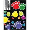 Graphic Image 3-Up Laser Postcards with Bookmark, Paw Prints