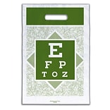 Medical Arts Press® Eye Care Non-Personalized 1-Color Supply Bags, 9x13, Eye Chart Design