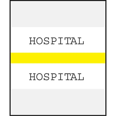Medical Arts Press® Standard Preprinted Chart Divider Tabs; Hospital, Yellow