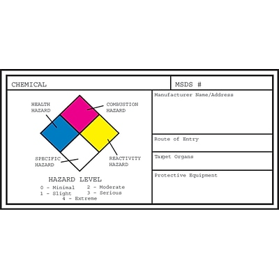 Medical Arts Press® Hazard Communication Medical Labels, Small, White, 1-1/8x2-1/4, 25 Labels