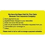 Patient Insurance Labels, No Payment Checklist, Fl Chartreuse, 1-3/4x3-1/4, 500 Labels