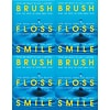 Medical Arts Press® Dental Laser Postcards, Brush, Floss, Smile