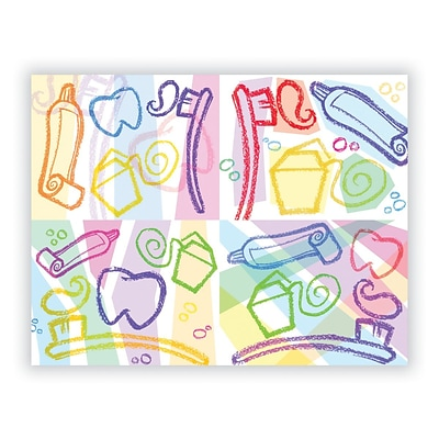 Medical Arts Press® Dental Assorted Laser Postcards, Dental Graphic