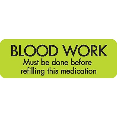 Veterinary Medication Instruction Labels Blood Work Done