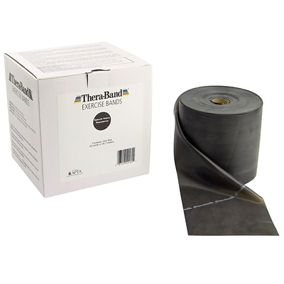 Thera-Band® Exercise Bands, 50 Yard Bulk Roll, Special Heavy, Black