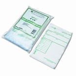 Quality Park Cash Transmittal Bags w/Printed Info Block, 6 x 9, Clear, 100 bags per pack