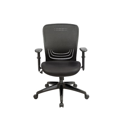 Eurotech MF272-BLK Tetra Fabric Task Chair, Adjustable Arm, Black