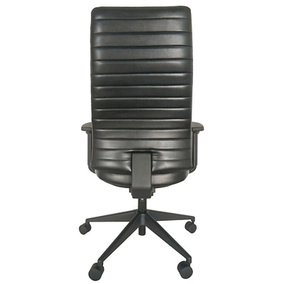 Eurotech LE800-BLKL-AA1 Frasso Leather Conference Chair; Adjustable Arms, Black