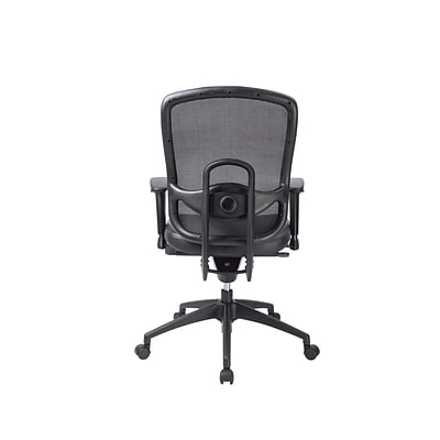 Eurotech ML160A-BLK Accent Leather Task Chair, Adjustable Arm, Black