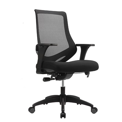 Eurotech MF2000-BLK Astra Fabric Task Chair, Adjustable Arm, Black