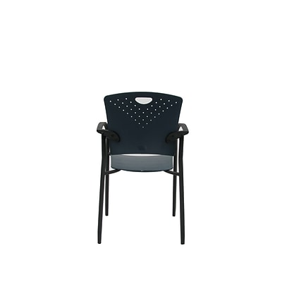 Eurotech STAQGLIDE-NVY Staq Plastic Task Chair, Fixed Arm, Navy