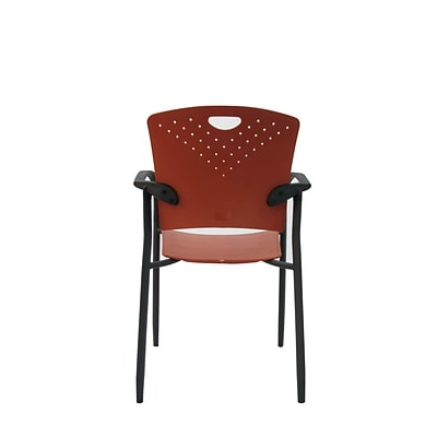 Eurotech STAQGLIDE-BRICK Staq Plastic Task Chair, Fixed Arm, Brick