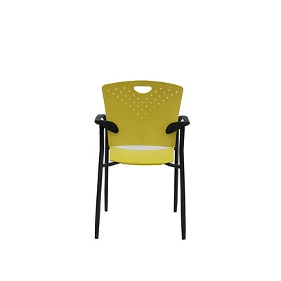 Eurotech STAQGLIDE-YEL Staq Plastic Task Chair, Fixed Arm, Yellow