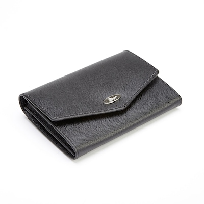 Royce Leather Black Leather RFID Blocking French Purse Wallet (RFID-167-BLK-2) | Quill (55365901 RFID167BLK2) photo