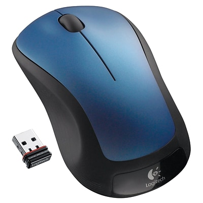 Logitech M310 Laser Wireless Ambidextrous Mouse, Peacock Blue (910-001917)