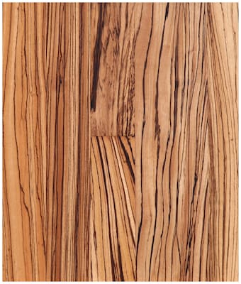Easoon Usa 5'' Engineered Zebrawood Hardwood Flooring In Natural