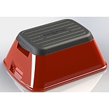 Ennovea Life 1-Step Plastic Anti-Tip Safe-T Step Stool w/ 375 lb. Load Capacity; Red