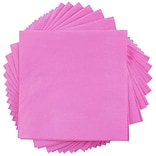 JAM Paper® Square Lunch Napkins, Medium, 6.5 x 6.5, Fuchsia Pink, 50/pack (255621948)