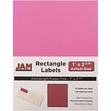 JAM Paper® Mailing Address Labels, 1 x 2 5/8, Ultra Pink, 120/pack (302725795)