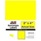 JAM Paper® Mailing Address Labels, 2 x 4, Neon Yellow, 120/pack (354328020)