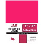 JAM Paper® Mailing Address Labels, 2 x 4, Neon Pink, 120/pack (354328023)
