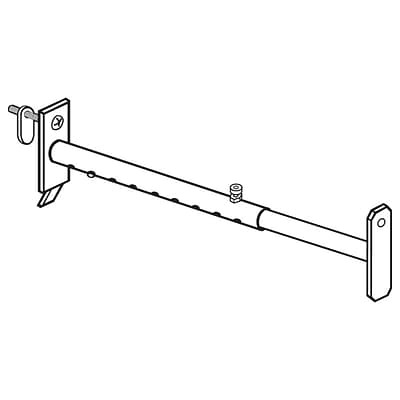 FFR Merchandising Metal Telescopic Bracket, Gondola Upright, 6 to 24 L, 4/Pack (2114441600)