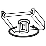 FFR Merchandising Swivel Loop Ceiling Clip, White, 100/Pack (6402289601)