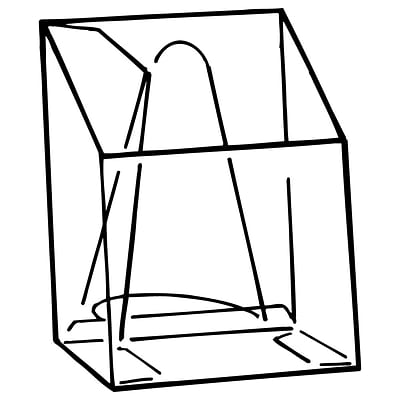 FFR Merchandising EC Pop-Up® Easel-Back Literature Box, 4 1/16W x 5.5H x 1.25D, 20Pk (9101740000)
