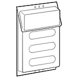 FFR Merchandising Outdoor Literature Holder, 9 W x 11 3/4 H x 1 1/8 D, 2/Pack (9709339402)