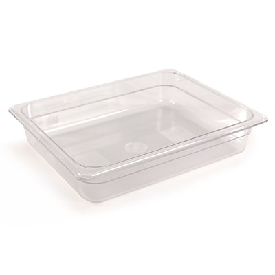 FFR Merchandising Cold Food Pans and Covers; 2 1/2 D, Clear, Half Pan, 3.0 qt, 4/Pack (9922510605)