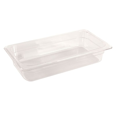 FFR Merchandising Cold Food Pans and Covers; 2 1/2 D, Clear, Third Pan, 2.4 qt, 4/Pack (9922510609)