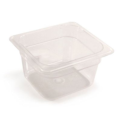 FFR Merchandising Cold Food Pans and Covers; 4 D, Clear, Sixth Pan, 1.7 qt, 6/Pack (9922510619)