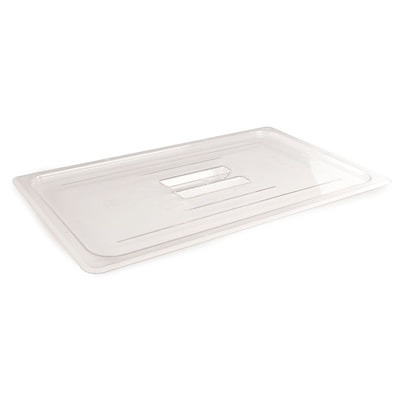 FFR Merchandising Cold Food Pans and Covers, 12 3/4 W x 20 L, Clear, Full Cover, 2/Pack (992251062